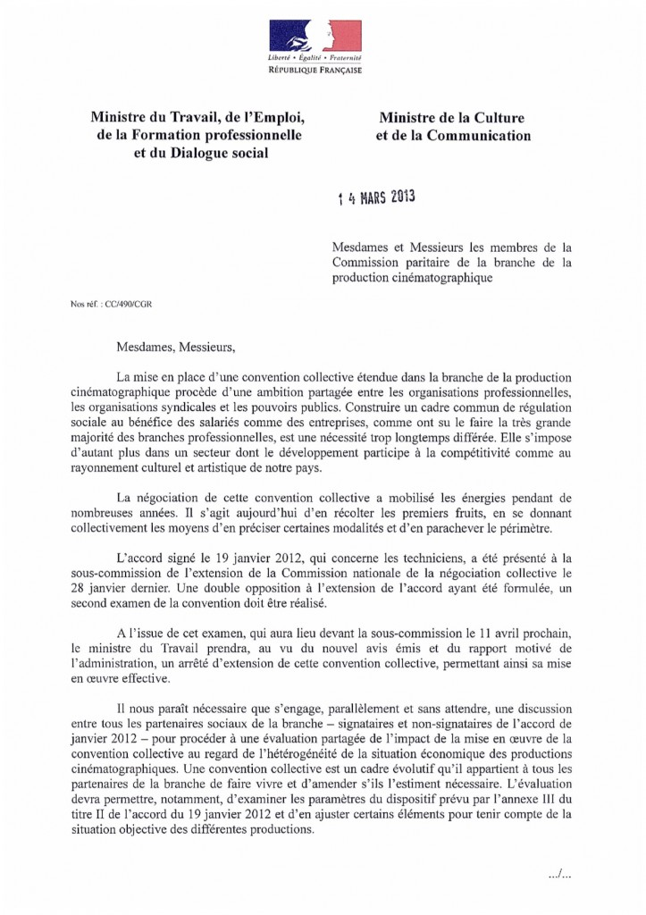 Courrier conjoint M Sapin - A Filippetti