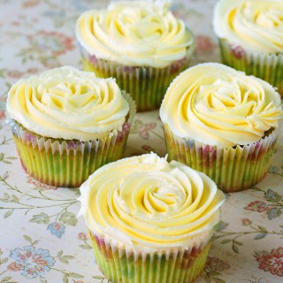 Pandan Cupcakes With Palm Sugar Frosting