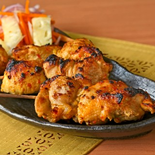 Grilled Chicken with Pineapple and Carrot Salad