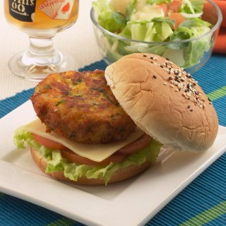 Spicy Fish Cutlet Burgers