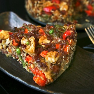 Brown Rice Veggie Cake