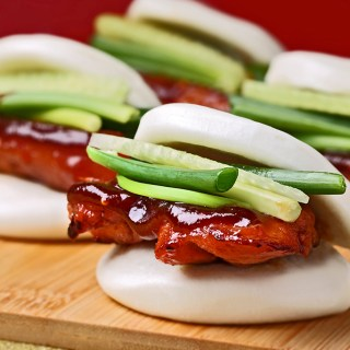 Chicken Char Siew in Steamed Buns