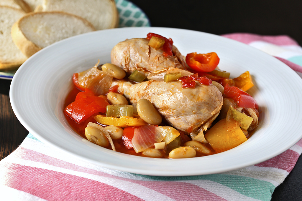 Chicken Butter Bean Pepper Stew
