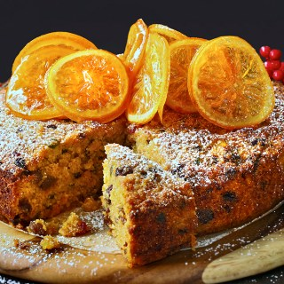 Orange Semolina Fruit Cake