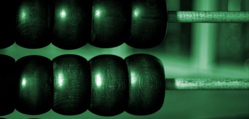 abacus in green hue