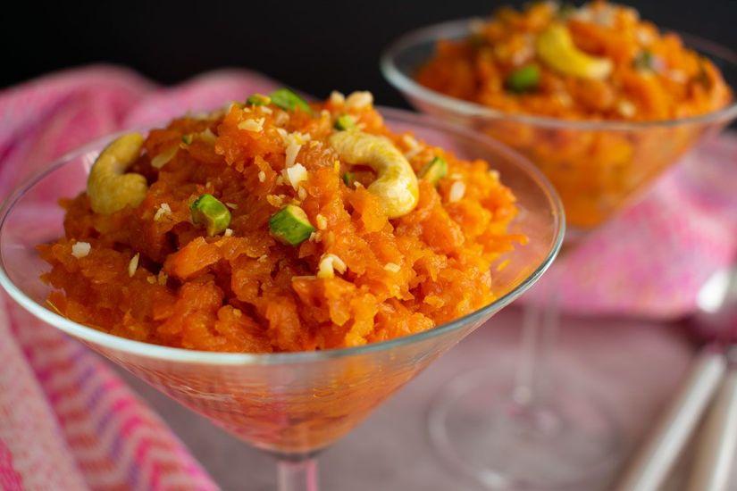 Dulce de zanahoria (gajar halwa)
