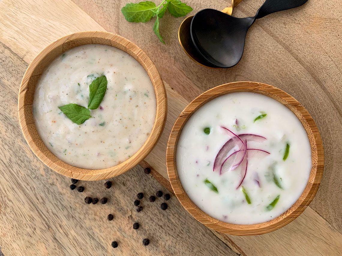 Salsa de yogur (Raita)