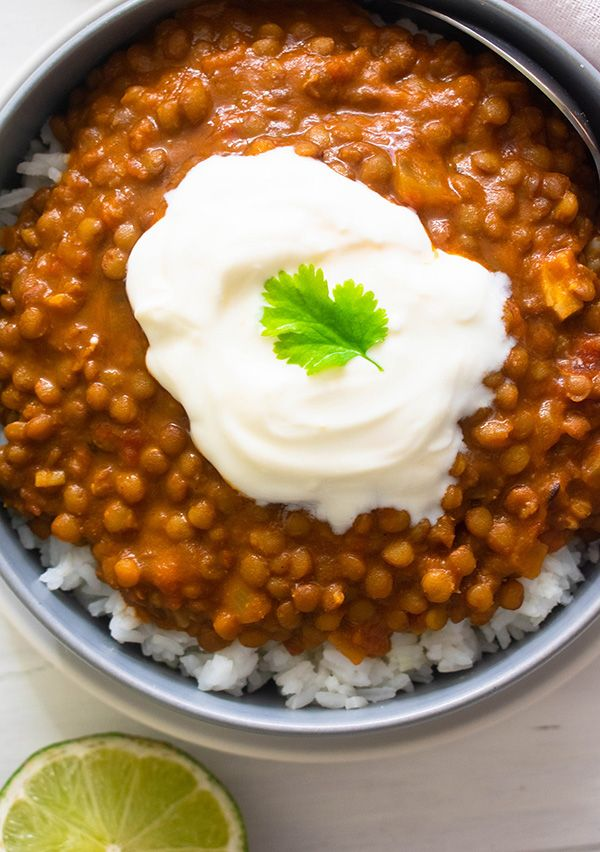 Curry Cremoso de Lentejas