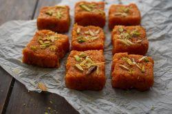 Carrot Barfi (Gajar Ki Barfi)