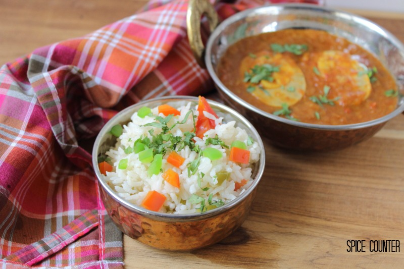 Sunday Pilaf with Egg curry