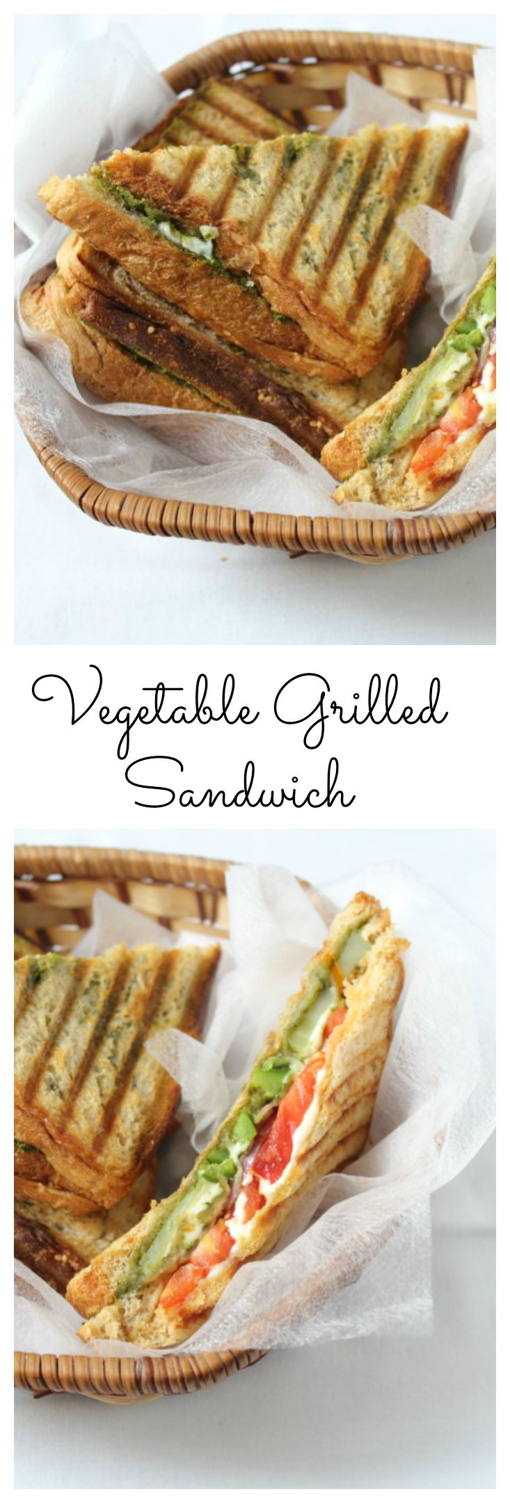 Veg grilled sandwich - Pinterest