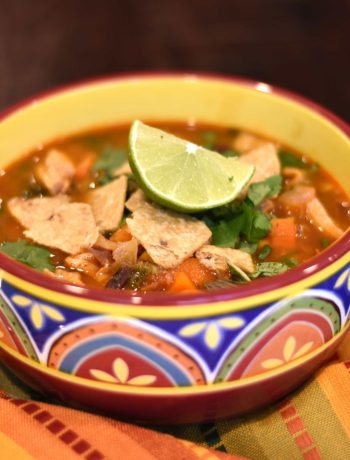 Chicken Tortilla Soup, Chicken Taco soup in instant pot by Spice Cravings. This 20-minute Chicken Tortilla Soup instant pot recipe combines the flavors of chili powder, cumin, lime juice, & paprika, with tender chicken, beans, & sweet corn.  #food #foodie #foodblogger #delicious #recipe #instantpot #recipes #easyrecipe #cuisine #30minutemeal #instagood #foodphotography #tasty