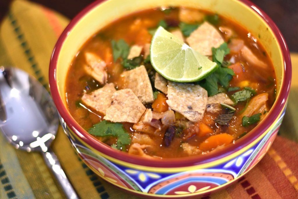 20-minute Chicken Tortilla Soup