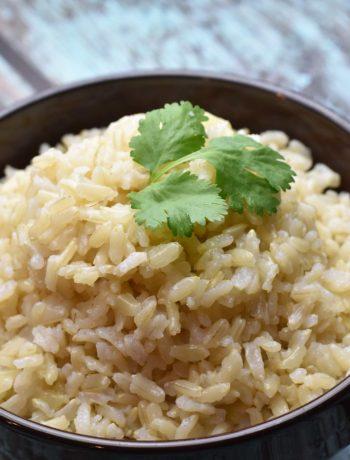 Brown Jasmine Rice in Instant Pot, garam masala kitchen