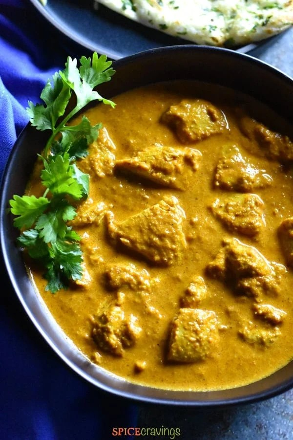 Close up of Authentic Butter Chicken