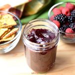 Top shot on cranberry sauce made in Instant Pot