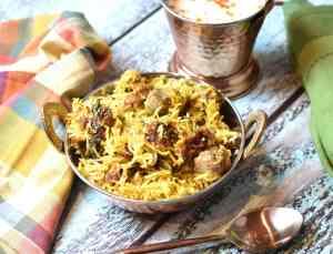 instant pot Lamb Biryani