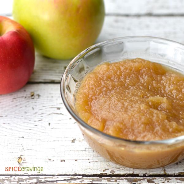Instant Pot Spiced Apple Cider leftover applesauce