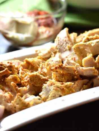 Low Carb Chicken Shawarma with Tzatziki sauce