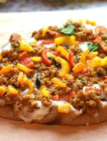 Naan Pizza, Indian ground chicken Keema pizza