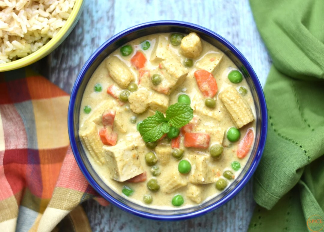 Thai green curry with tofu in instant pot pressure cooker spice thai green curry tofu by spice cravings thai green curry with tofu is made by forumfinder Gallery
