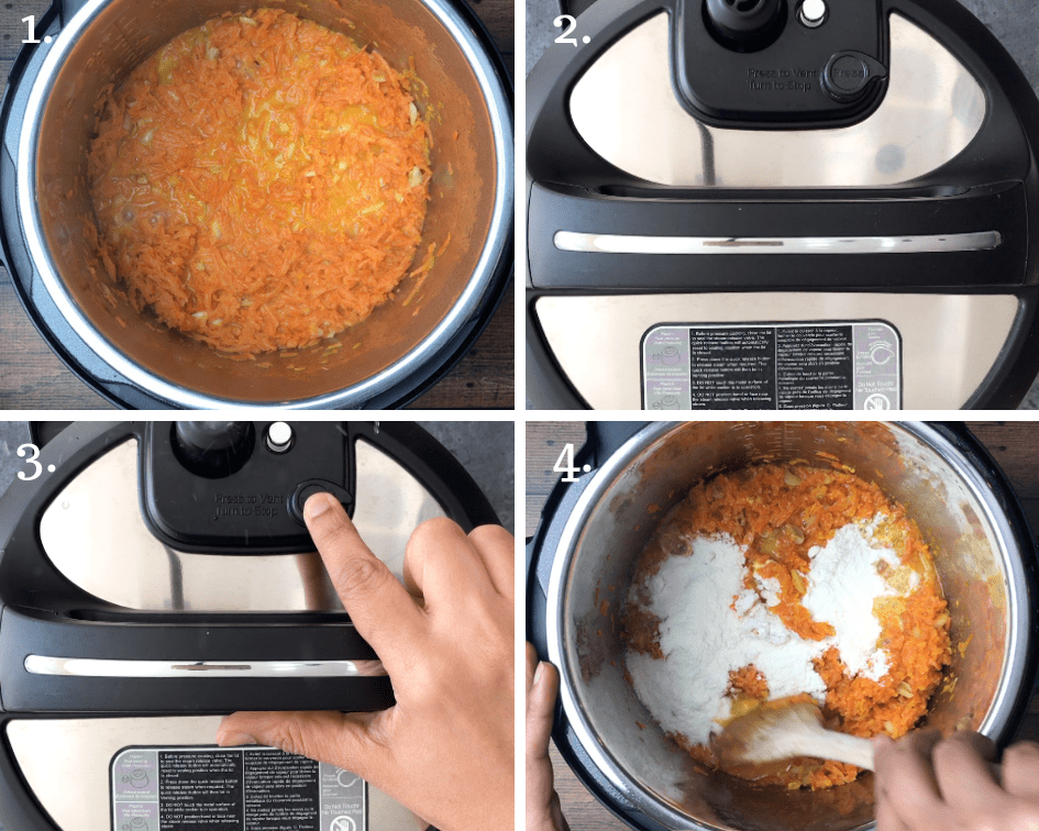 How to Make Carrot Halwa in an Instant Pot