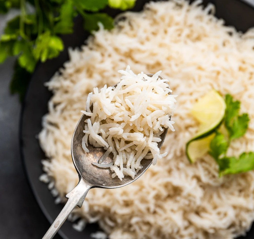 Coconut-rice- Instant Pot, #food #foodie #foodblogger #delicious #recipe #instantpot #recipes #easyrecipe #cuisine #30minutemeal #instagood #foodphotography #tasty