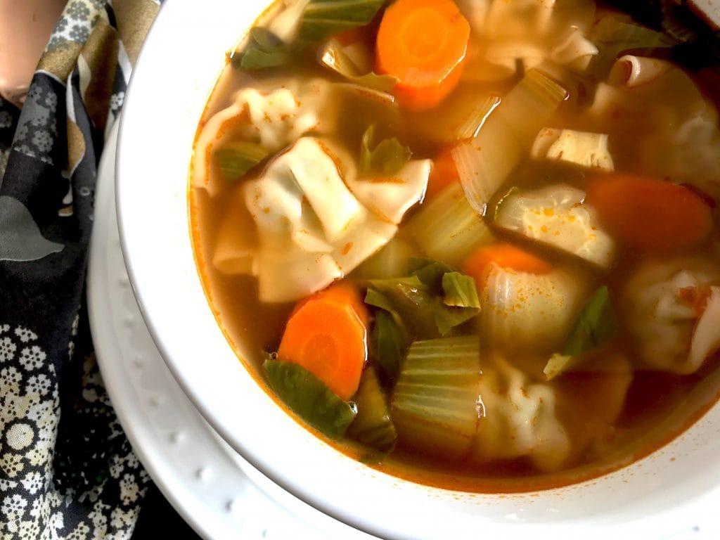 Easy Instant Pot Chicken Wonton Soup