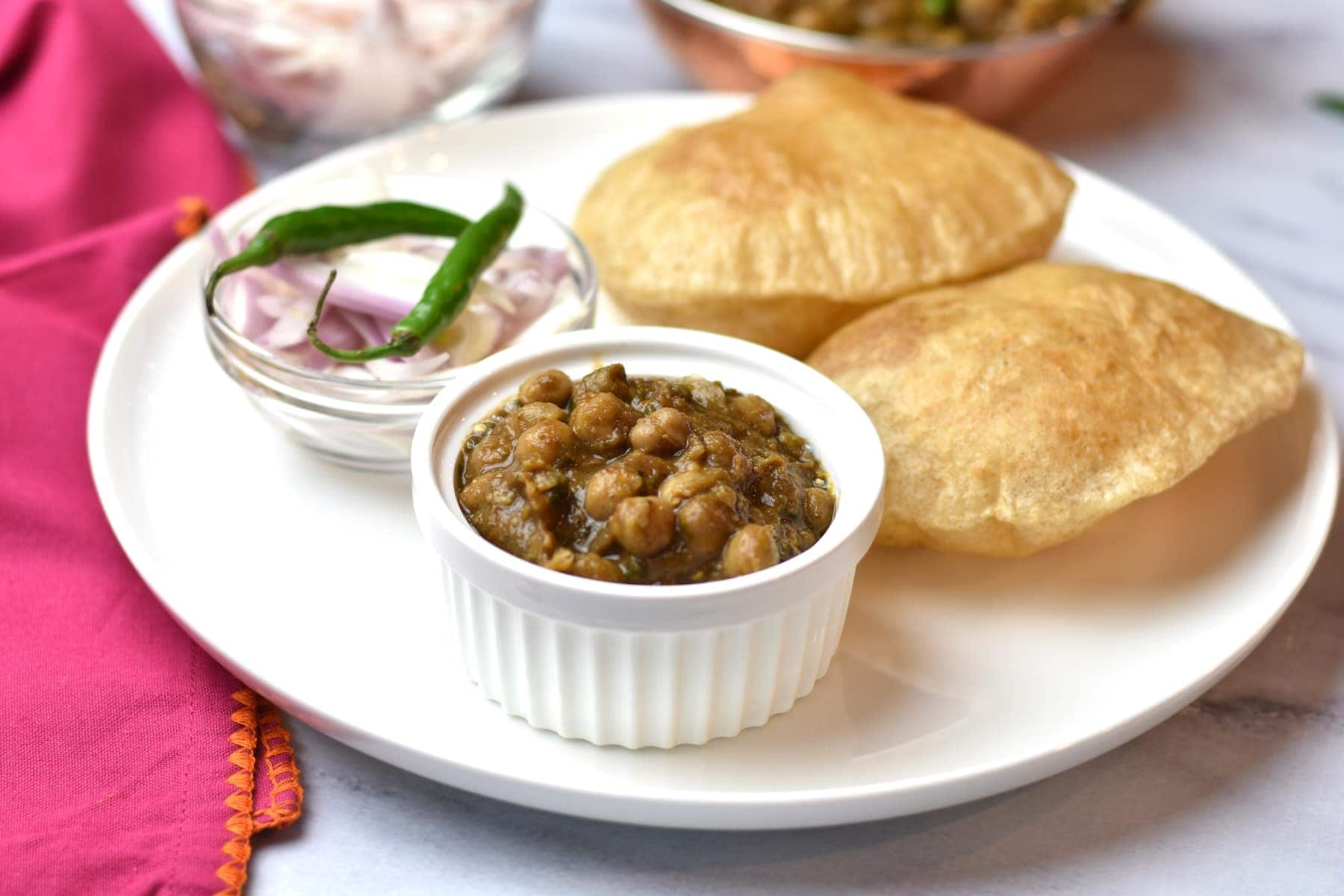 Chole Bhature Chickpeas Curry With Indian Fry Bread Spice Cravings