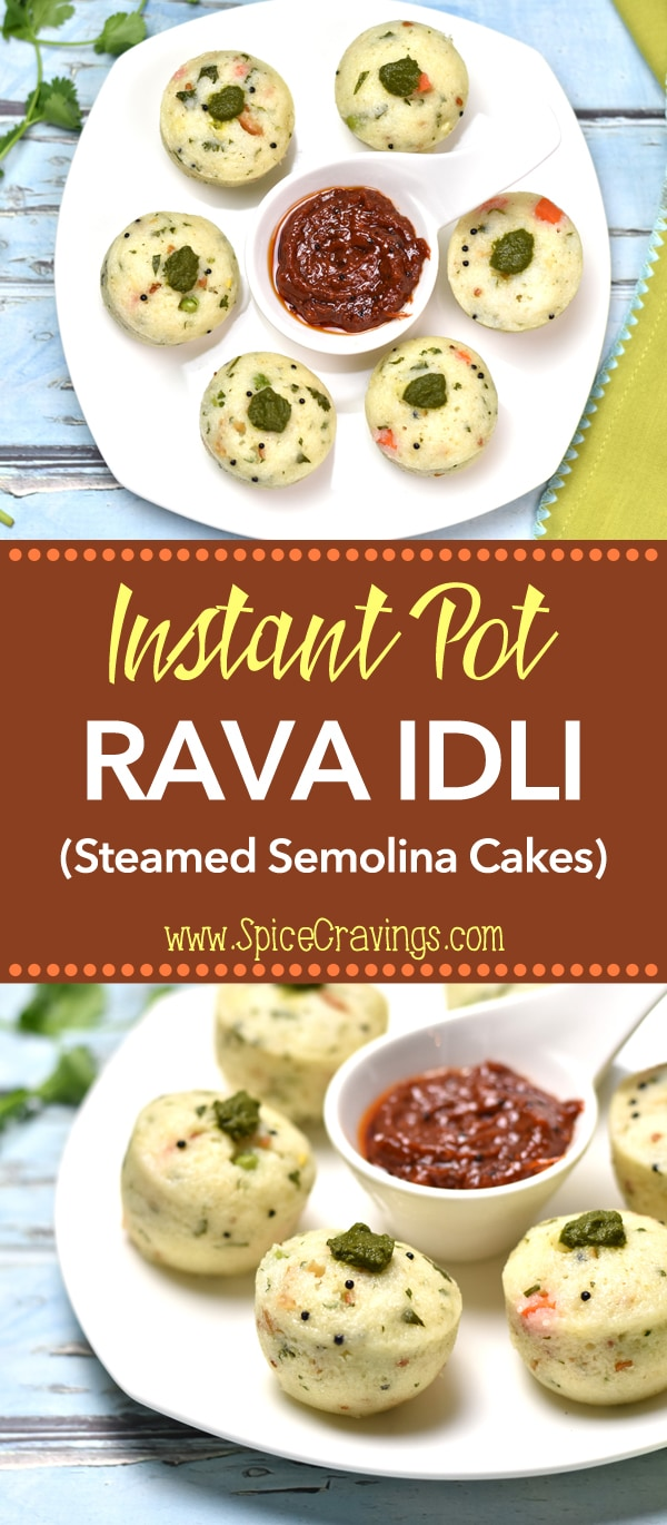 Soft & spongy Rava Idli (Steamed Semolina Cake), is a favorite with my kids. It's a variation of the popular south-Indian breakfast called 'Idli' (steamed rice & lentil cakes). Made with semolina (rava), corn, peas, carrots, and cashews, these savory cakes make for a healthy & tasty breakfast or brunch . #cooking #food #recipe #recipes #foodphotography #foodblogger #yummy #delicious #foodie #indian #breakfast #brunch