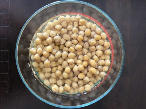 Dried chickpeas cooked in an Instant Pot (pressure cooker)