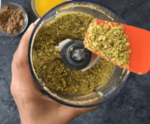 Ground pistachio for mango cheesecake crust