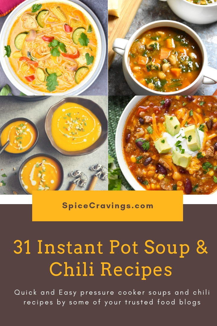 Best Instant Pot soups & Chili Recipes. #spicecravings #instantpot #soup #soups #instantpotrecipes #easyrecipes #delicious #tasty #chicken #vegetarian #glutenfree #chili #recipe #beef