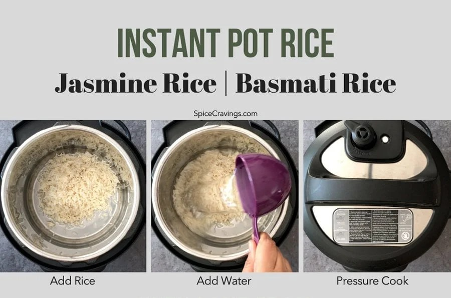 Step by Step instructions to make Instant Pot basmati or Jasmine Rice