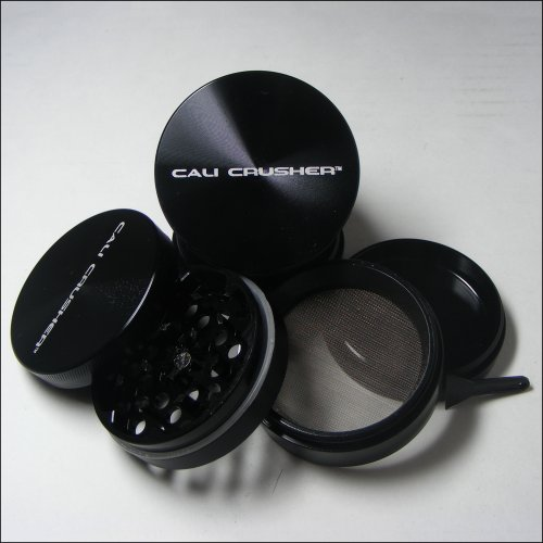 Authentic Cali Crusher Ultra Premium Herb Grinder 4 Piece Small Black (CC-6-B)