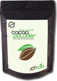 Premium Organic Fair Trade Raw Cacao Powder – Rich Dark Chocolate Taste from Rare Criollo Cacao Bean – Super Food, Highest Amount of Antioxidants, Source of Magnesium, Iron, Fiber – Energy and Happiness Booster – Use in Smoothies, Baking, Hot Chocolate Drink in place of Cocoa Powder – 1lb/16oz bag – Eat Well Be JoyFuel! 100% Satisfaction Guarantee