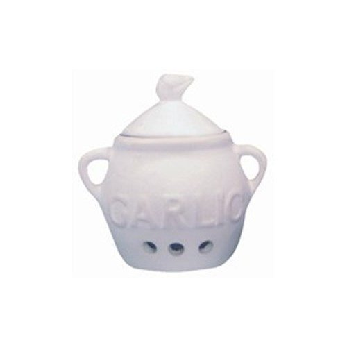 Fox Run Garlic Keeper White Stoneware