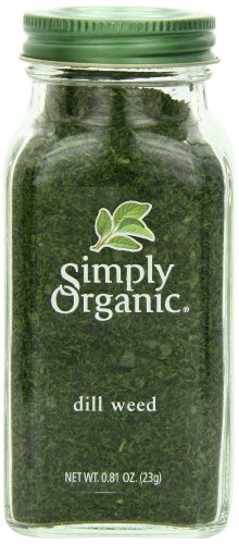 Simply Organic Dill Weed Cut & Sifted Certified Organic, 0.81-Ounce Container