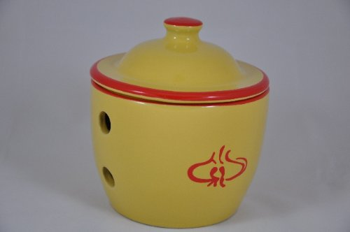 IMCG Garlic Storage Jar – Garlic (red & yellow)