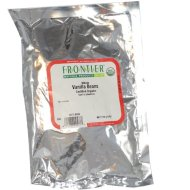 Frontier Bulk Vanilla Bourbon Beans Whole, CERTIFIED ORGANIC, 1/4 lb. package