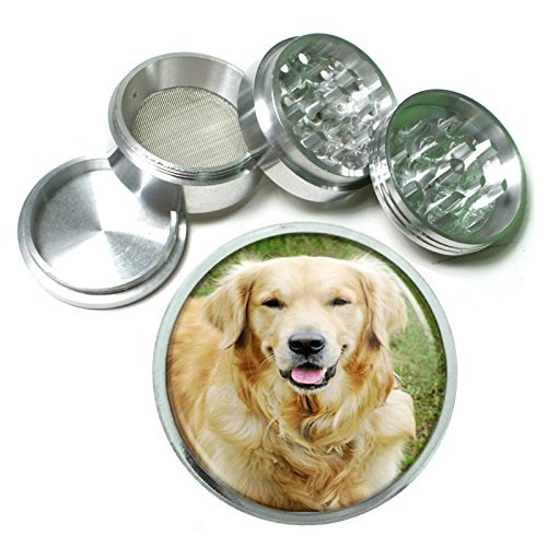 Dog Golden Retriever 02 4Pc Aluminum Grinder