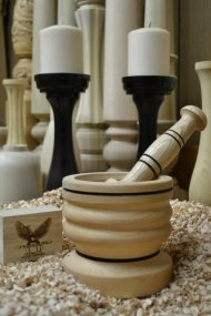 Rosalie Wood Gourmet Mortar and Pestle Set