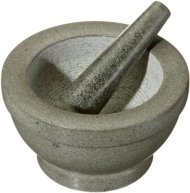 Cilio Giant Green Granite Mortar and Pestle, 5 by 6.75-Inch Diameter, Green