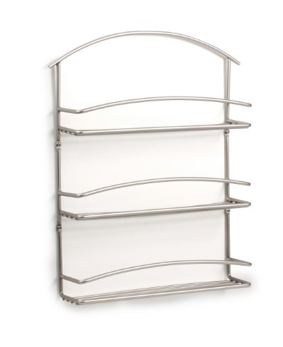 Spectrum 45478 Euro Wall Mount Spice Rack, Satin Nickel