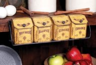 SV * VINTAGE COUNTRY SPICE RACK SET