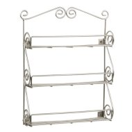 Spectrum 43778 Scroll Wall Mount Spice Rack Boxed, Satin Nickel