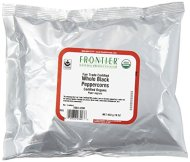 Frontier Peppercorns Black Whole Organic, Fair Trade, 1 Pound