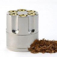 EUBUY New Metal Mini Bullet Cylinder Handy Revolver Tobacco Spice Herb Revolver Grinder Pollen
