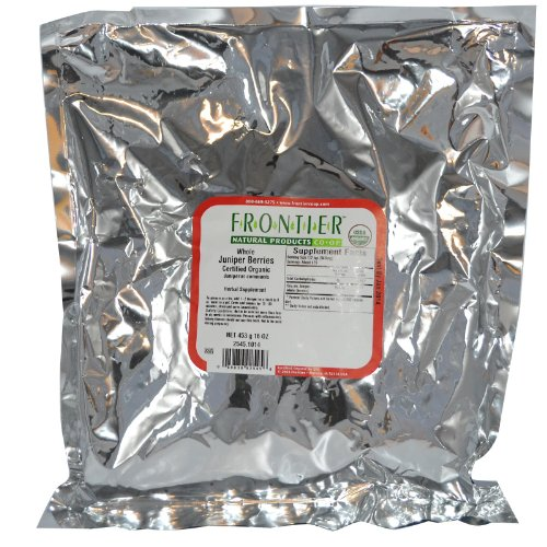 Frontier Natural Products Organic Juniper Berries Whole — 1 lb