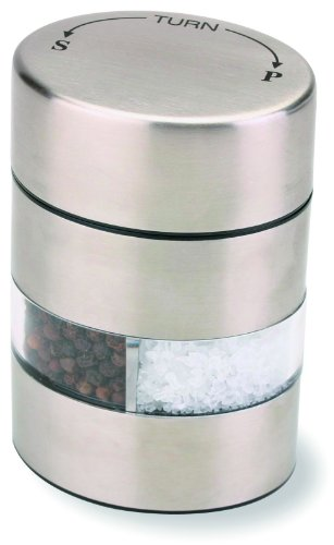 Olde Thompson 4-Inch SS Combo Peppermill and Salt Grinder